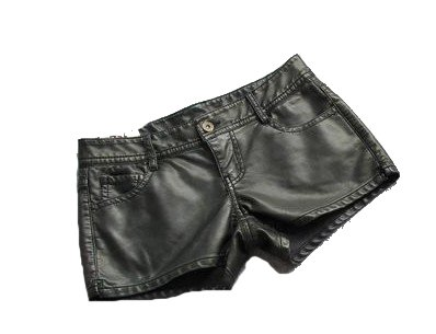 summer autumn  fashion normic sexy unassisted cool quality water washed leather super soft quality shorts PL12073102
