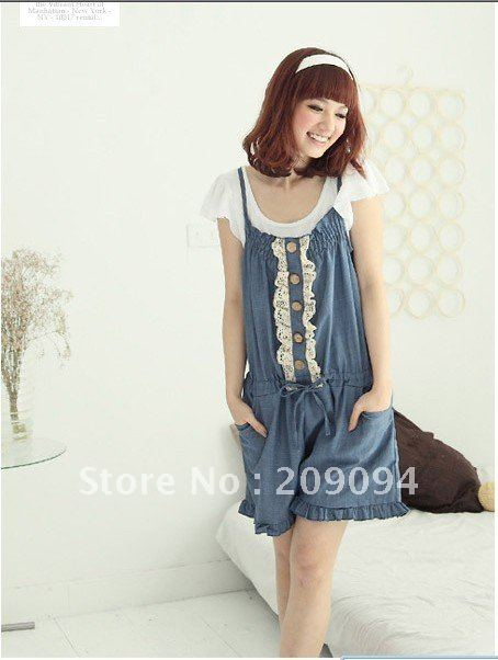 Summer Bib ,Removable Bib ,Long jeans ,2012 new style ,Denim overalls ,free shipping