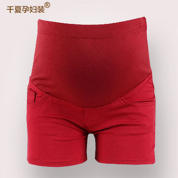 Summer fashion maternity clothing plus size legging candy color skinny pants belly pants short trousers