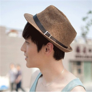 Summer jazz hat male women's outdoor sunbonnet strawhat lovers straw braid fedoras hat beach cap