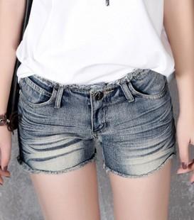 Summer lace denim shorts