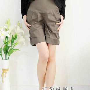 Summer maternity pants 8168 maternity casual pants maternity shorts maternity belly pants free shipping