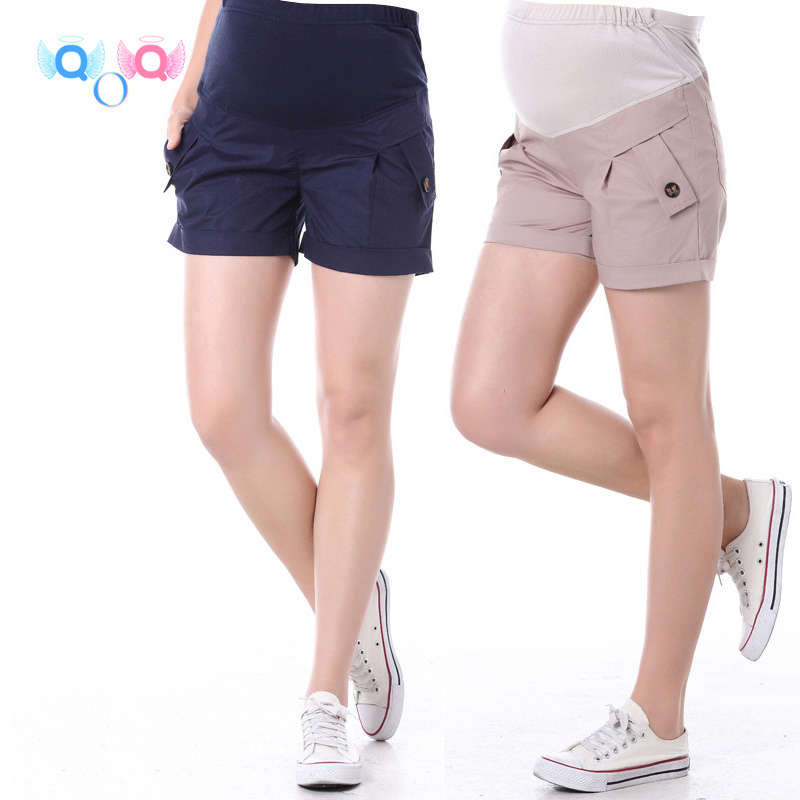 Summer maternity shorts maternity 100% cotton trousers shorts maternity belly pants 12079