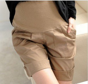 summer maternity shorts, pregnant short trousers home wear, maternity pants/trousers,Black/Khaki, retail&wholesale 5/lot
