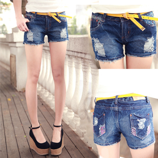 Summer new arrival cutout colorful smd all-match shorts