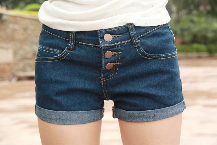 Summer new arrival female slim denim shorts