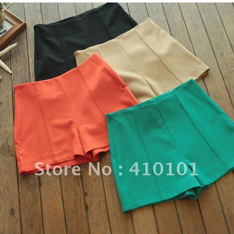 Summer new arrival shorts fashion vintage plus size super shorts candy color high waist shorts culottes female