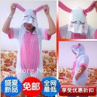 Summer Rabbit design short sleeve Adult romper nonopnd ckeeociar cotton + Lycra for 105cm~188cm free shipping wholesale