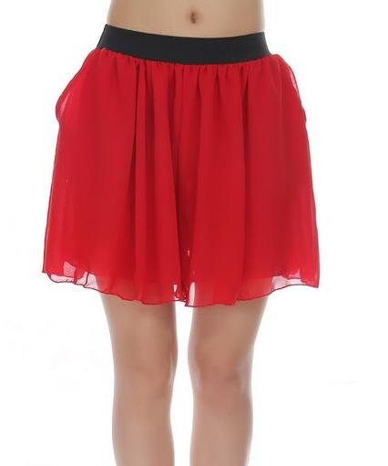 Summer snow spins skirts pants han edition loose hot pants pants tall waist short render KuQun