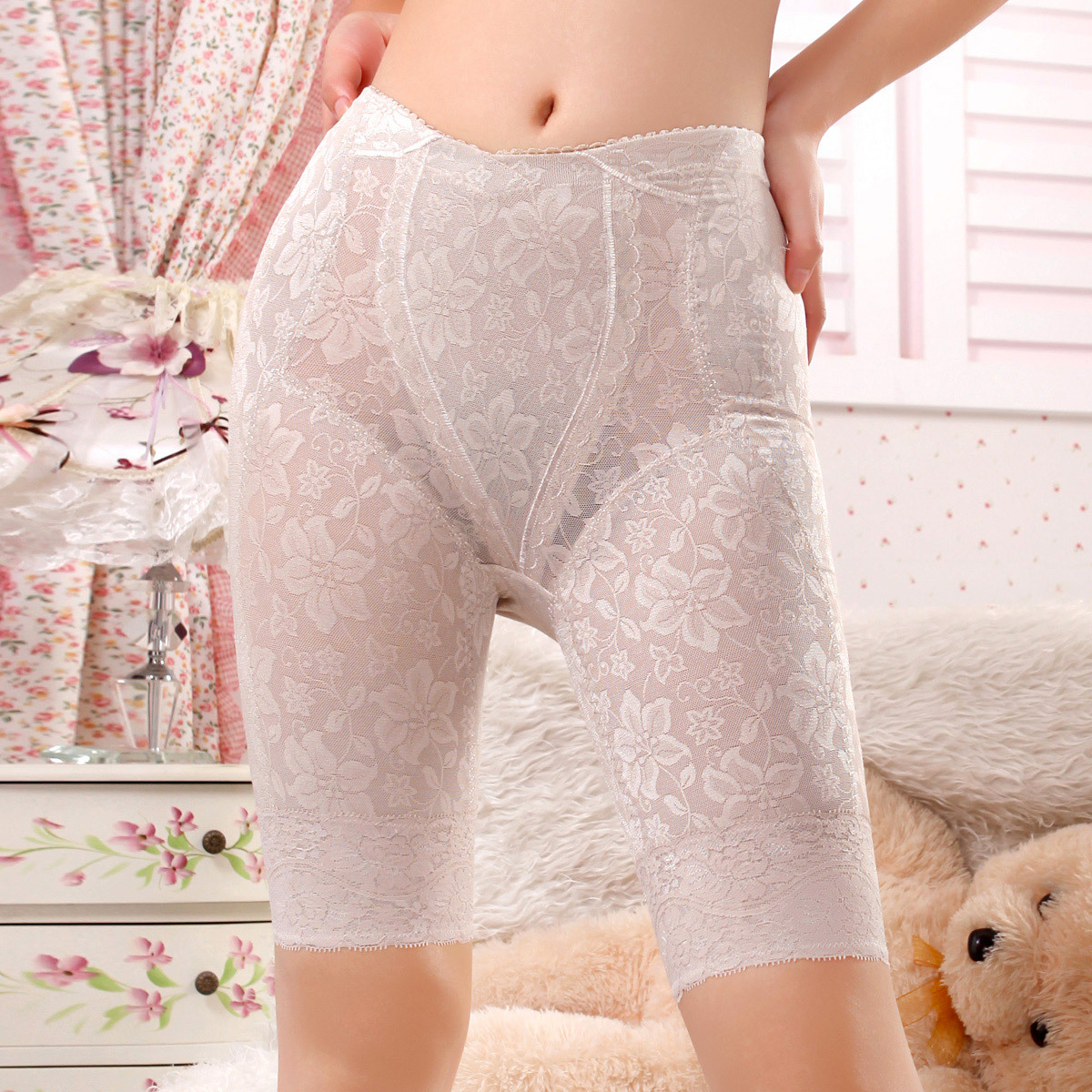 Summer ultra-thin mid waist abdomen drawing butt-lifting pants body shaping corset panties k103
