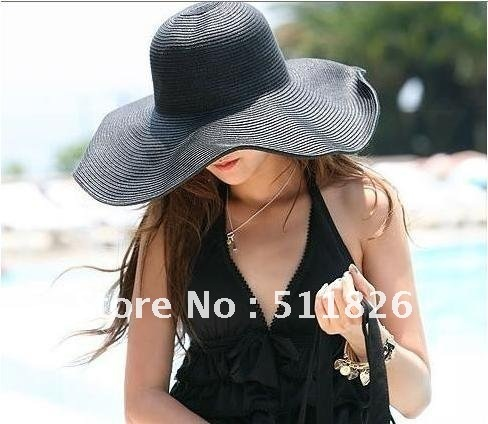 Summer Wide Large Floppy Wire Brim Beach BIG Sun Hat NEW  with Free Shipping 5150