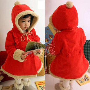 SUNLUN FANTASY ZONE FREE SHIPPING girls clothing baby berber fleece with a hood cotton-padded jacket wadded jacket wt-0877