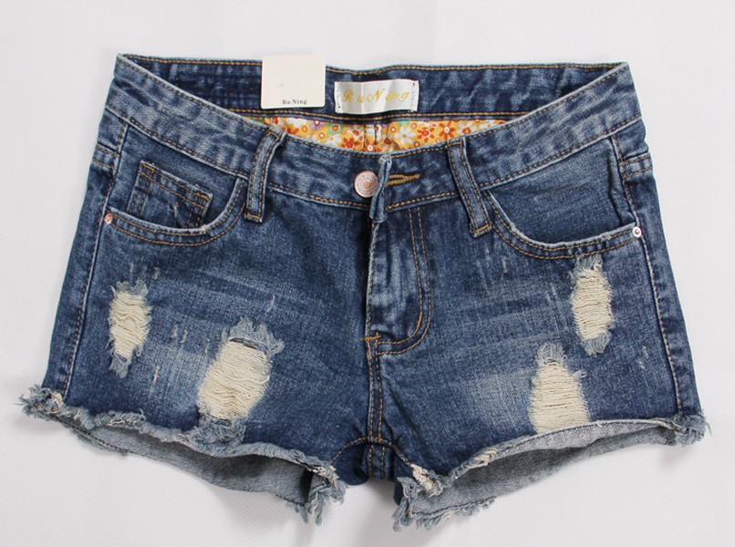 Super Plus Size Hole Vintage Women Jeans Shorts Denim Slimming Hot Pants free shipping