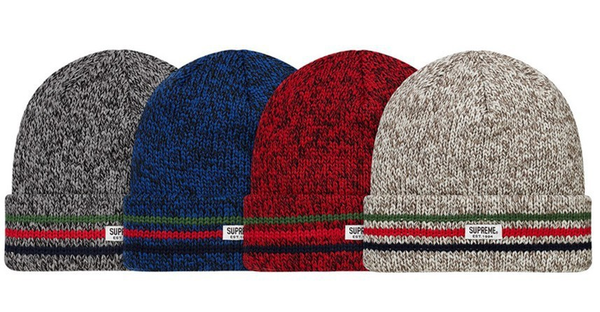 Supreme Ragg Beanie hats 4 colors red grey brown blue most popular sports caps freeshipping