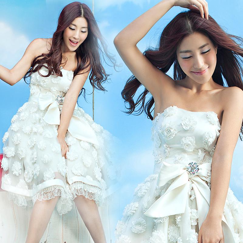 Sweet short design evening dress cheongsam dinner service 736