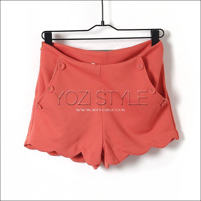 T-879-021 spring and summer 2012 fashion women's wave laciness slim hip shorts female trousers