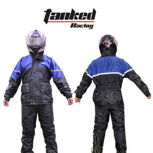 Tank raincoat outdoor protection windproof breathable wicking trc16 blue