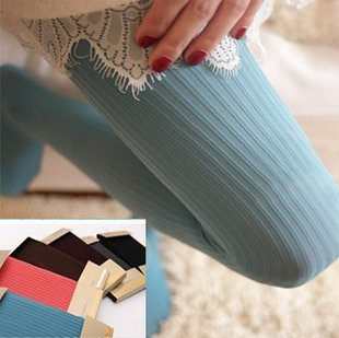 The hot selling leggings Show thin double vertical stripes stockings pantyhose free shipping B0050