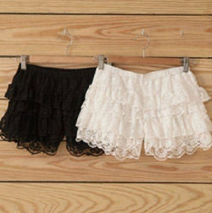 The lace layers Leggings anti emptied Security skirt pants shorts