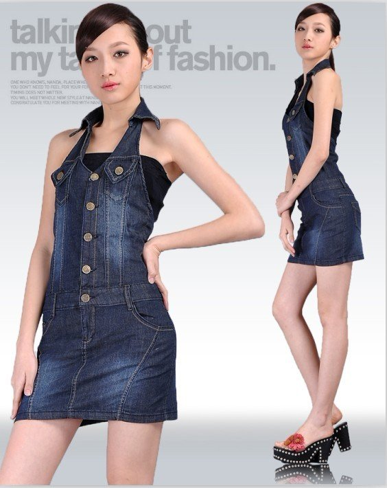 The new denim overalls, denim skirt, skirts, leotard, sexy Dress Free Shipping-G176