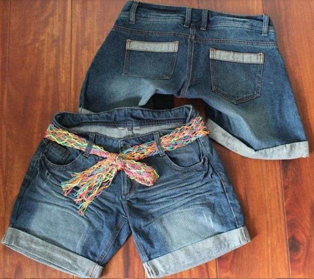 The new shorts pants denim shorts women 's curling folds frayed Special Free shipping