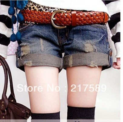 The new spring and summer K712 leisure flanging wor joker cowboy small hot pants