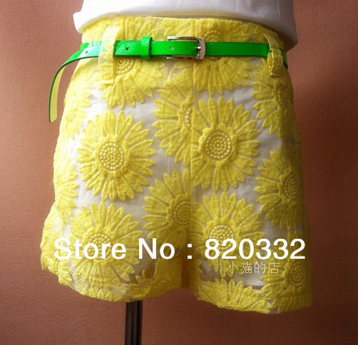The new spring/summer 2013 women's clothing embroidery shorts