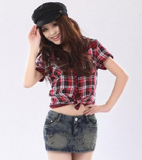 The new summer wear out low waist han edition female bull-puncher knickers skirts pants torn hot pants bag the post