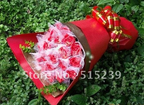 The simulation flower bouquets of roses cartoon flowers creative gifts lovers gifts/wedding bouque/birthday gift X23