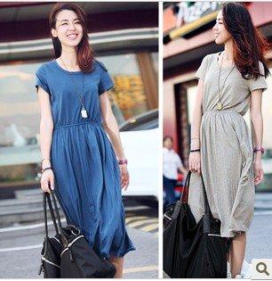 The tight waist Pleated Dress