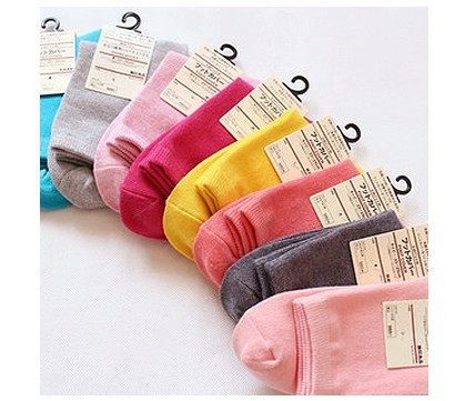The winter warm winter in tube socks candy color