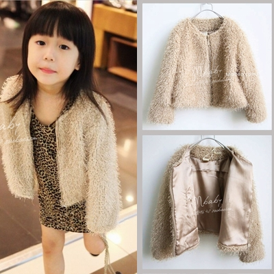 Thick fleece outerwear 2013 spring girls clothing baby zipper trench cashmere cardigan wadded jacket outerwear top