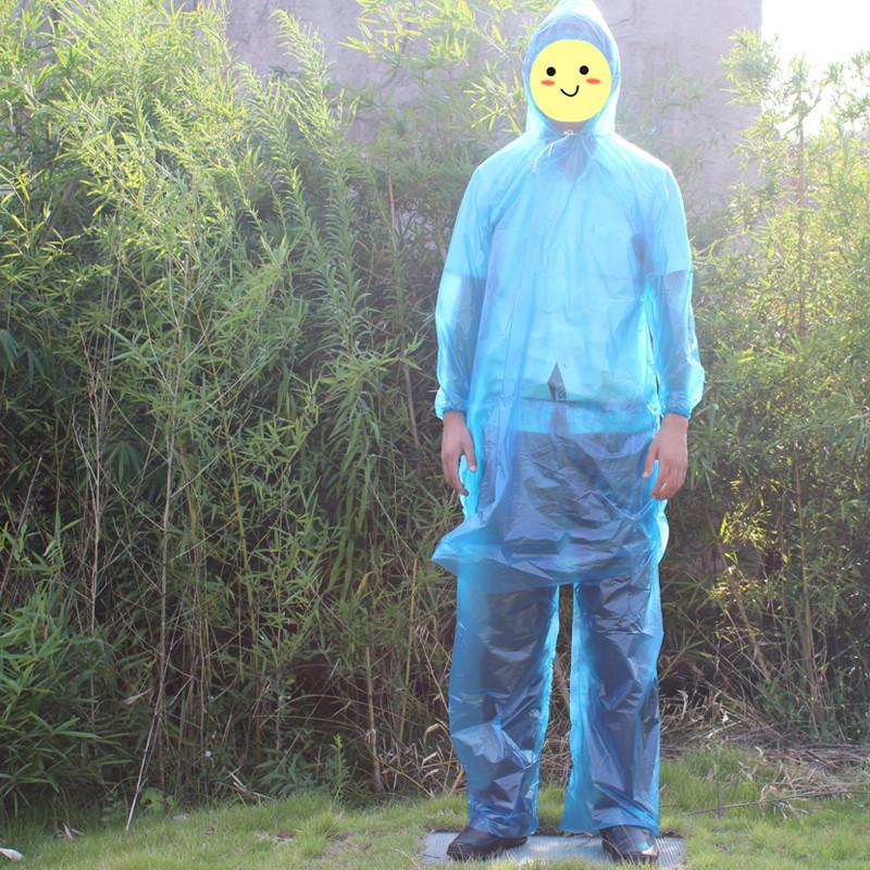 Thickening type raincoat rain pants set split type pullover disposable raincoat disposable rain pants twinset