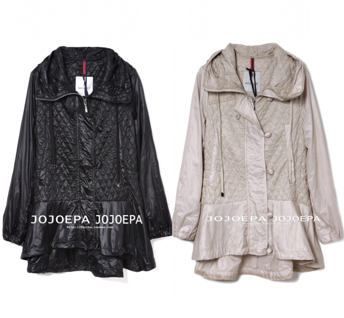 Thin female fashion doll casual loose trench all-match wadded jacket