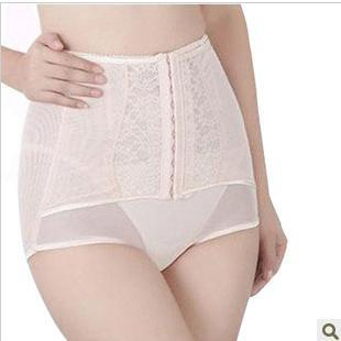 Thin high waist abdomen drawing panties seamless butt-lifting puerperal body shaping slimming pants