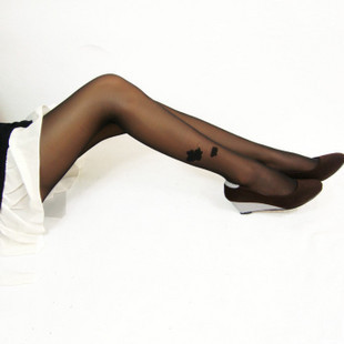 thin models velvet simple flower T the crotch pantyhose heart black stockings free shipping