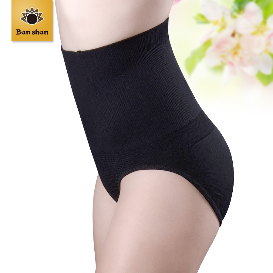Thin waist bamboo seamless thermal a slice beauty care butt-lifting body shaping pants super-elevation waist thickening