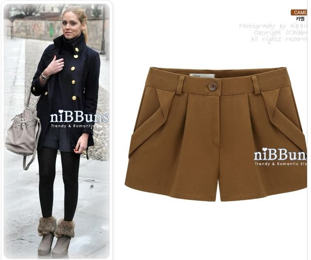 Three Colors 2012 Autumn Winter Women's Wool Straight Boot Cut Plus Large Casual Thicken Shorts S-XL