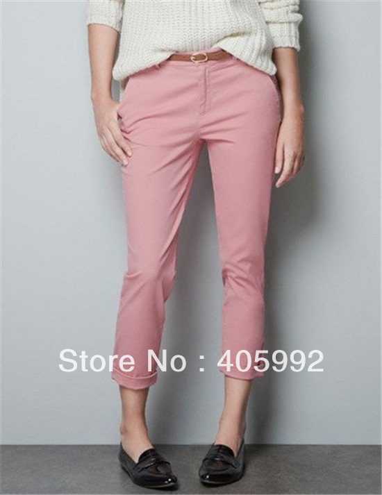 Top grade new arrival casual ice cream color cargo pants in 3 sizes,high quality of cotton blends&polyester,free belt,fresh