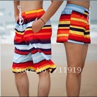 twill cotton The new fashion lovers beach pants men and women hot pants  #5010