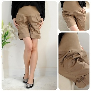 Two-color maternity shorts maternity knee-length pants capris shorts summer maternity pants