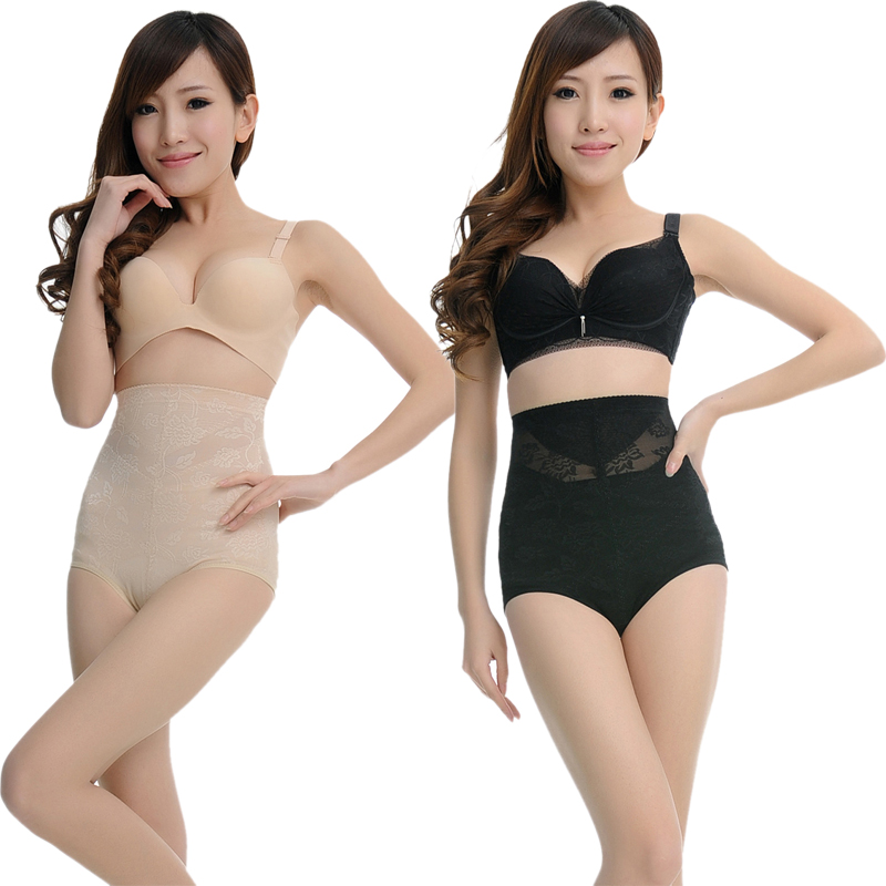 Ultra-thin high waist huwei abdomen drawing butt-lifting body shaping beauty care trigonometric plastic pants slimming pants