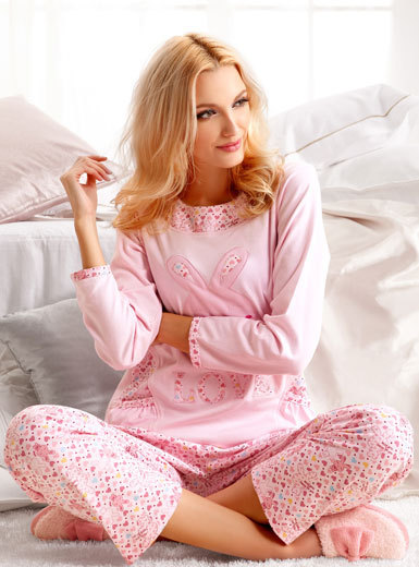 underwear sleepwear 2012 long-sleeve o-neck cotton women's lounge set 012012105