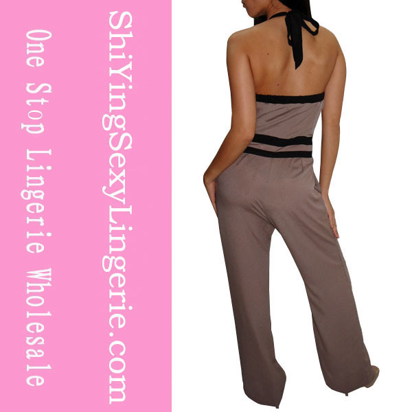 Vintage Clubwear Jumpsuits Classy Affair Taupe Black Pant Sets LC8542 + Cheaper price + Free Shipping Cost + Drop Shipping