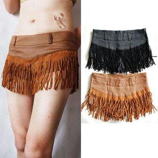 Vintage Unique Chic Sexy Fringe Tassel Shorts Hot Pants