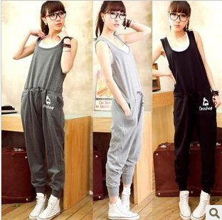 Was thin , the new Korean version of casual women harem pants jumpsuit
