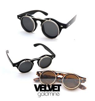 Wayfarer Retro Flip Up Round Vintage  Mens/Womens Sunglasses Black/Leopard with Gold Metal 1pc Free Shipping