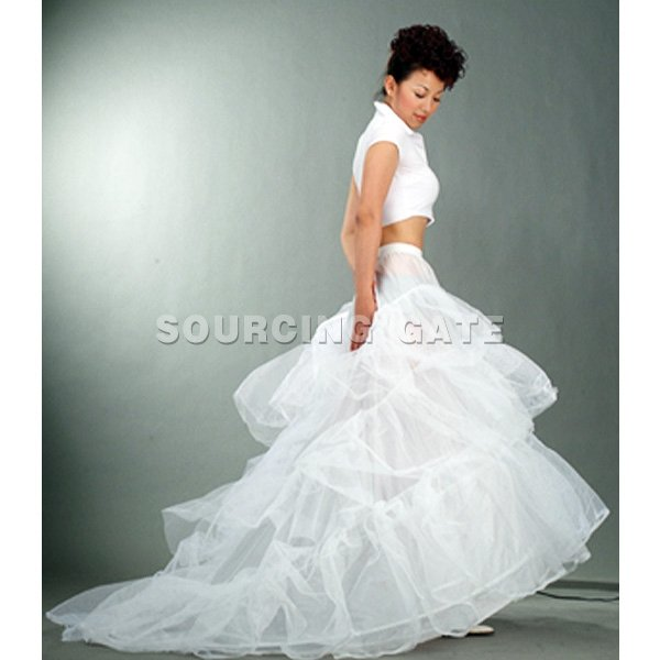 Wedding Accessories Underskirt with train in free shipping for wholesale price teep001