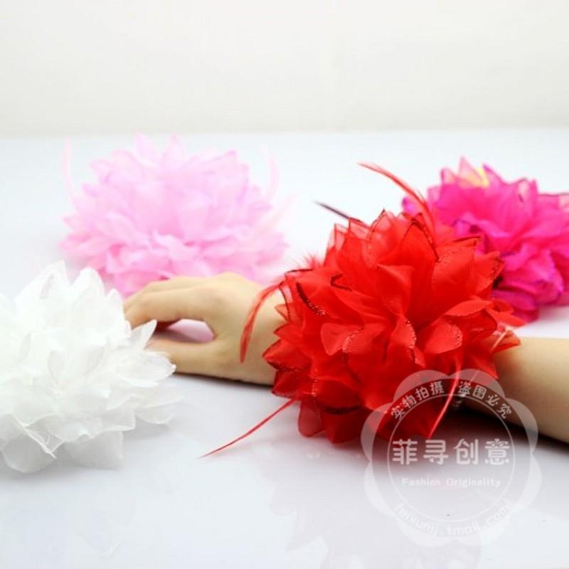 Wedding corsage bridesmaid wrist length flower bride hand flower wedding supplies wedding corsage wrist length flower