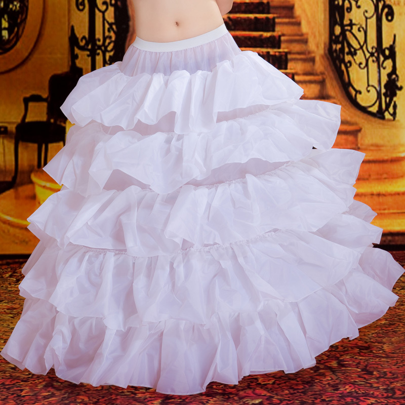 Wedding dress 4 wire ruffle panniers ultralarge skirt ruffle panniers